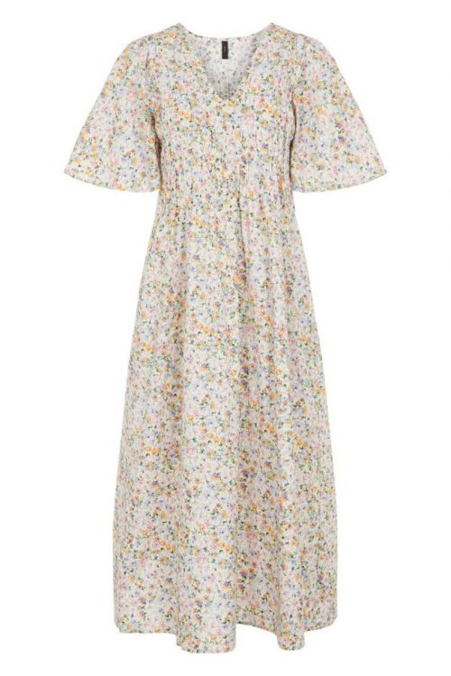 Y.A.S - Kjole - Veja 2/4 Long Dress - Eggnog