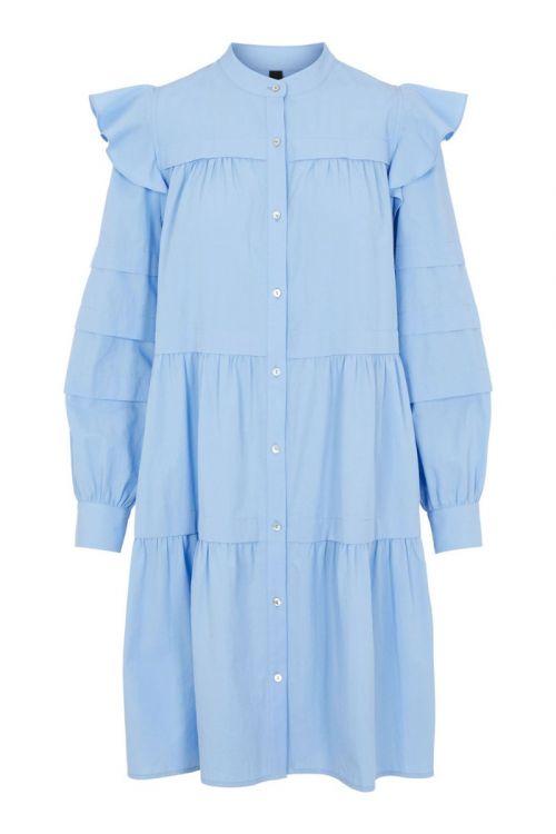 Y.A.S Kjole Violi LS Shirt Dress Vista Blue Front