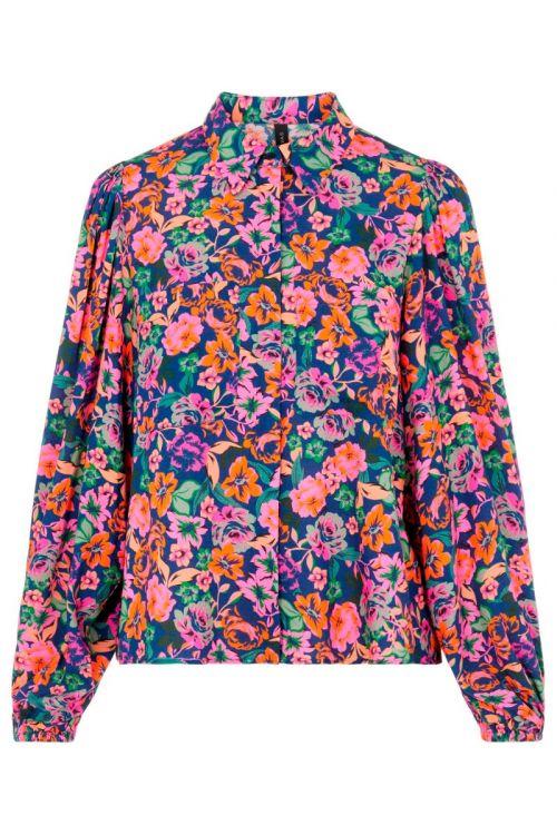 Y.A.S - Skjorte - Alira LS Shirt - Navy Peony/Alira