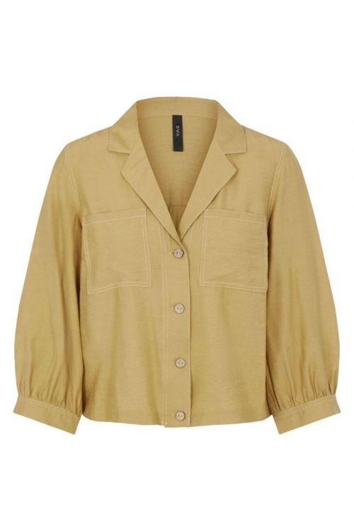 Y.A.S - Skjorte - Leno Shirt - Khaki