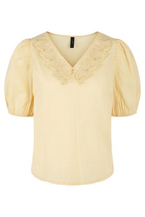 Y.A.S - Skjorte - Melana 2/4 Top - Golden Straw