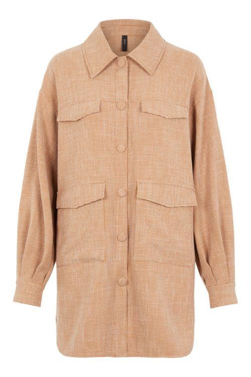 Y.A.S - Skjorte - Melva LS Long Shirt - Mocha Bisque
