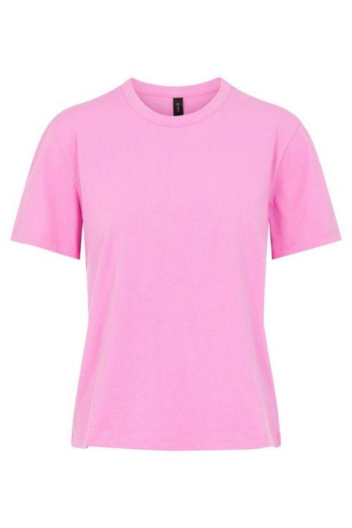 Y.A.S - T-shirt - Sarita O-neck Tee - Fuchsia Pink