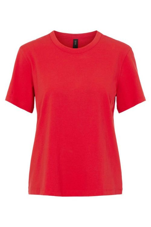 Y.A.S - T-shirt - Sarita O-neck Tee - High Risk Red