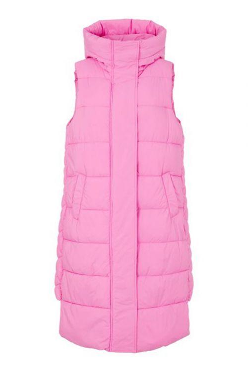 Y.A.S Vest Lira Padded Vest Fuchsia Pink Front