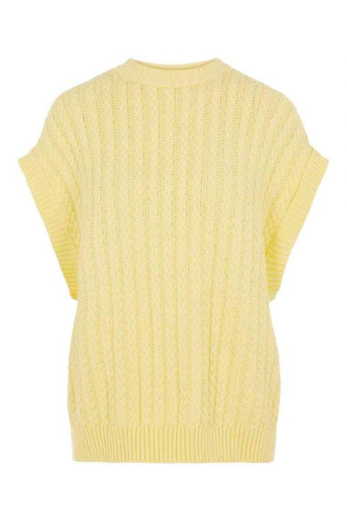 Y.A.S Vest Vanilla SL Gilet French Vanilla Front