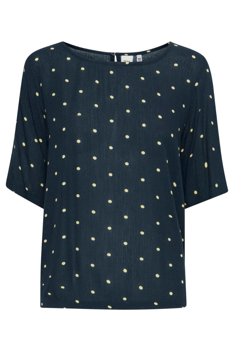 Ichi - T-shirt - Marrakech AOP SS3 - Total Eclipse Dot