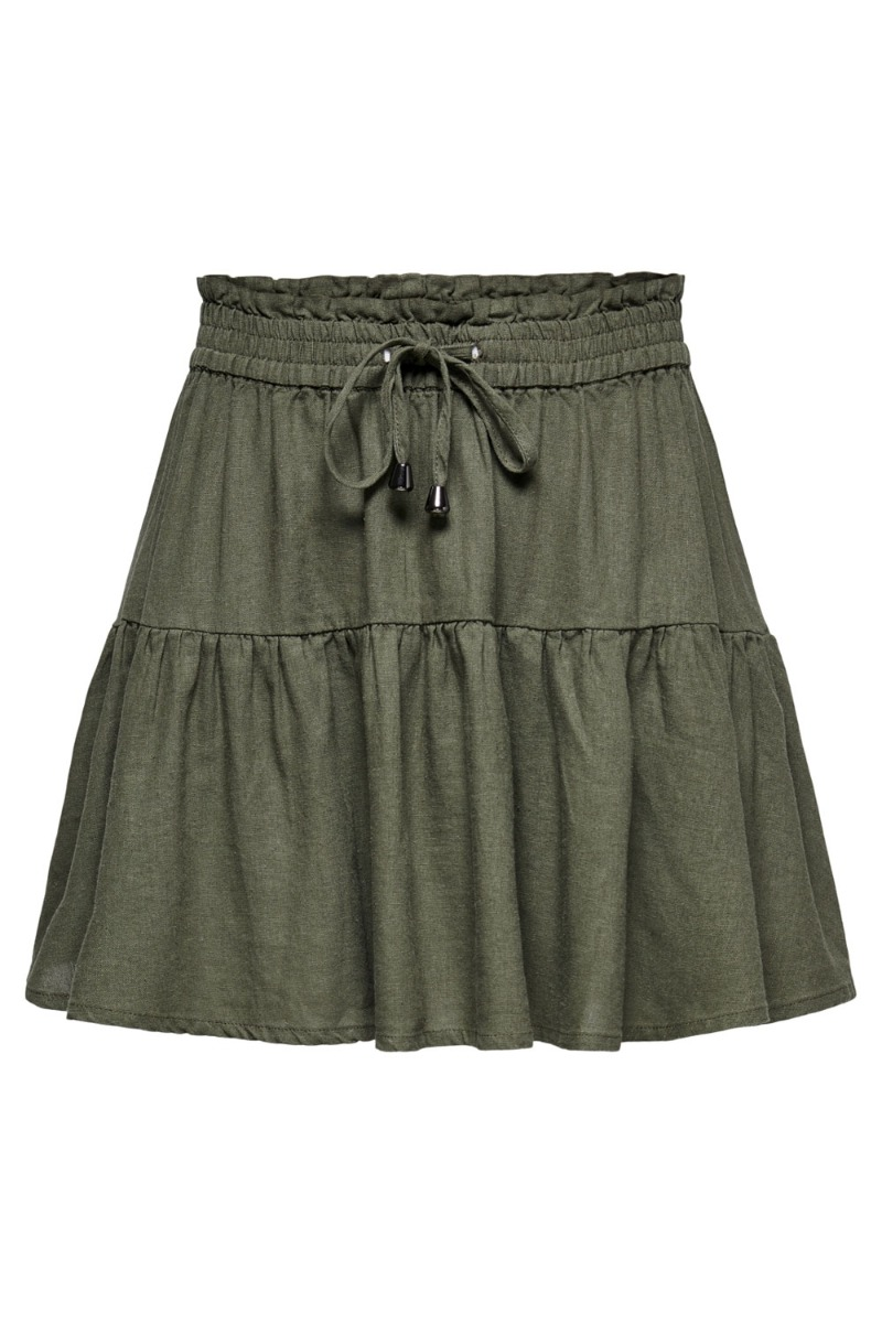 Jacqueline de Yong - Nederdel - JDY Say MW Linen Skirt - Kalamata